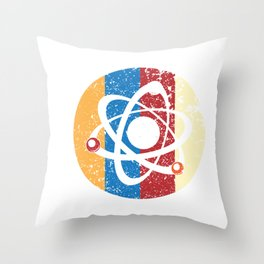 Billiards Ball Atom Science Pool Player Scientists Throw Pillow