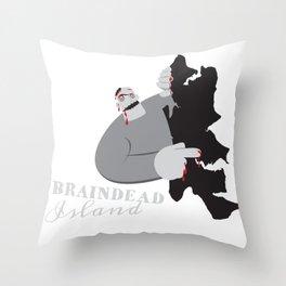 Braindead Island Throw Pillow