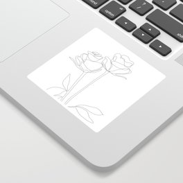 Two Minimal Roses Sticker
