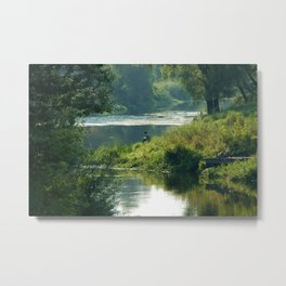 Talking to the Nature Metal Print