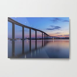 The Jordan Bridge at Twilight Metal Print