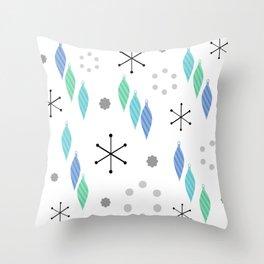 Mid Century Modern Winter Green Throw Pillow