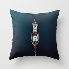 Sailing Ship in the Ocean Throw Pillow