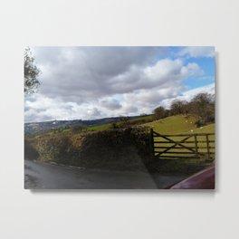 Green fields of rural England Metal Print