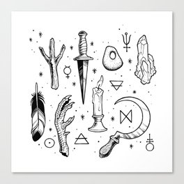 Accoutrements - white Canvas Print