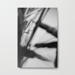 [27] Black and white abstract, lines and blur Metal Print