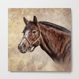 Drawing portrait  horse Metal Print