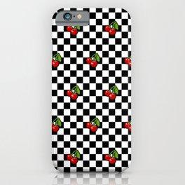 Checkered Cherries iPhone Case