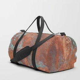 Tarnished Metal Copper Texture - Natural Marbling Industrial Art Duffle Bag
