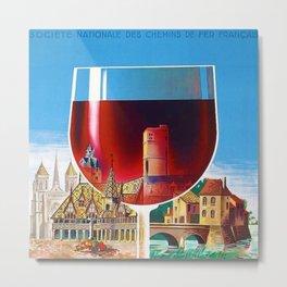 1930 French Bourgogne Wine Societe Nationale Advertisement Poster Metal Print