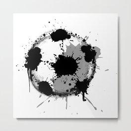 Grunge football ball Metal Print