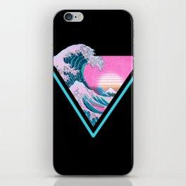 Vaporwave Aesthetic 80's 90's Great Wave Off Kanagawa iPhone Skin