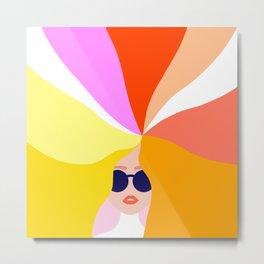 Girl Power - Rainbow Hair #girlpower Metal Print