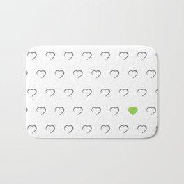 Hearts - Green Bath Mat