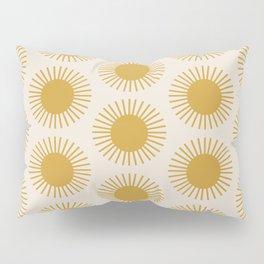 Golden Sun Pattern Pillow Sham