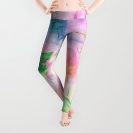 Watercolor Flowers Leggings