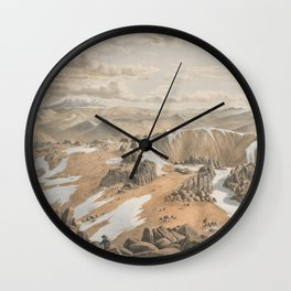 North east view from the top of Mt Kosciusko by Eu von Guerard Date 1866  Romanticism  Landscape Wall Clock