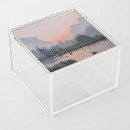 Yosemite Valley Sunrise Pretty Pink Acrylic Box