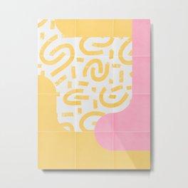 Sunny Doodle Tiles 03 #society6 #midmod Metal Print