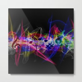 Colorful musical notes and scales artwork Metal Print
