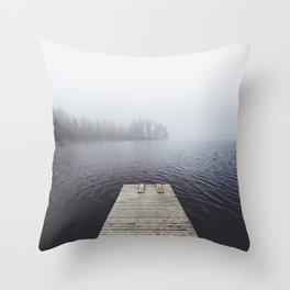 Fading into the mist Throw Pillow