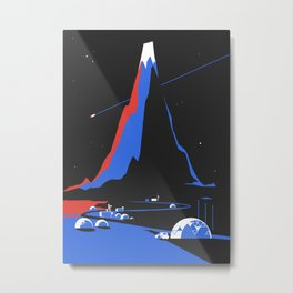 Asteroid Fly By Metal Print