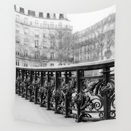 Classic Paris - Black and White Travel Photography Wall Tapestry