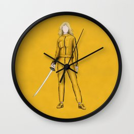The Bride without a face (Kill Bill) Wall Clock