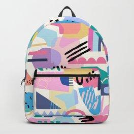 Geometric 80s Inspired Pattern Backpack