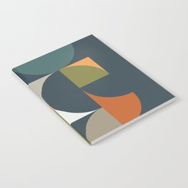 Mid Century Geometric 12/2 Notebook