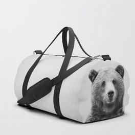 Grizzly Bear - Black & White Duffle Bag