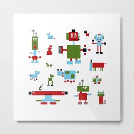 Robots-RGB Metal Print