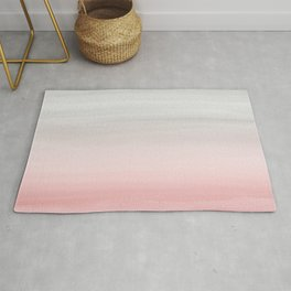 Touching Blush Gray Watercolor Abstract #1 #painting #decor #art #society6 Rug