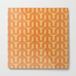 orange factory Metal Print