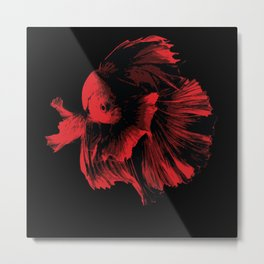 Guppy Lovers Fish Gift Idea Design Motif Metal Print