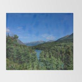 Cooper_Landing 4158, Kenai Peninsula, Alaska Throw Blanket