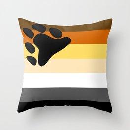 Gay Bear Brotherhood Flag Throw Pillow