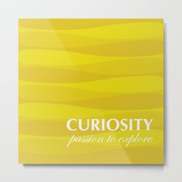 Yellow for Curiosity Metal Print