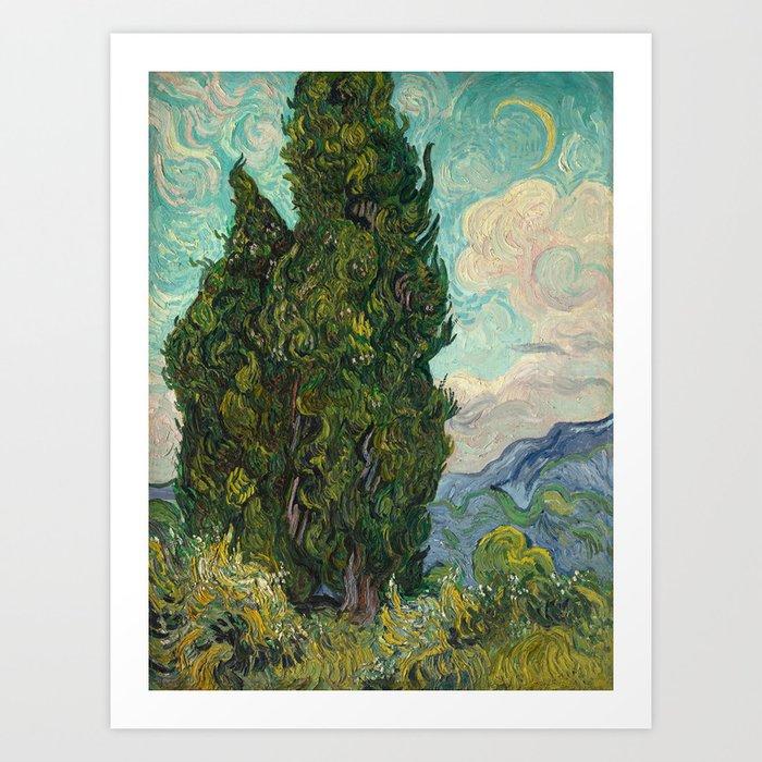 Cypresses - Van Gogh Kunstdrucke