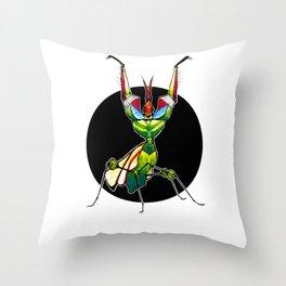 Devil's Flower Mantis (Idolomantis diabolica)     BUGSPOTTING SERIES Throw Pillow