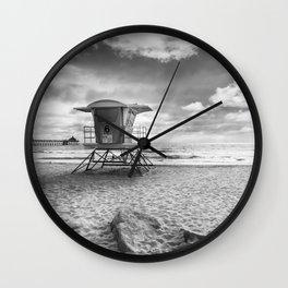 CALIFORNIA Imperial Beach | Monochrome Wall Clock