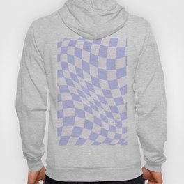 Warped Check - Periwinkle  Hoody