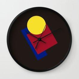 Modern geometric abstract 6 Wall Clock