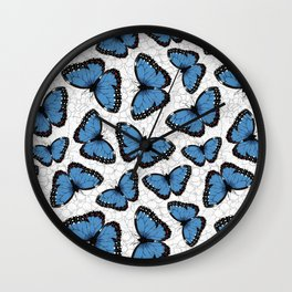 Blue morpho butterflies Wall Clock