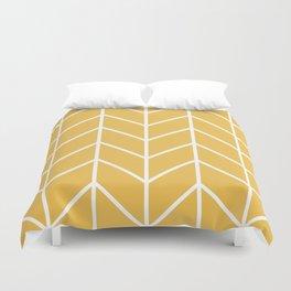 Herringbone Chevron (Mimosa) Duvet Cover