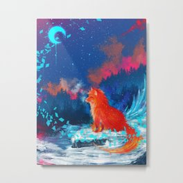 Blazed Fox Metal Print