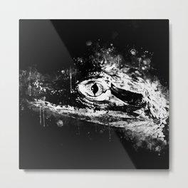 alligator baby eye wsbbw Metal Print