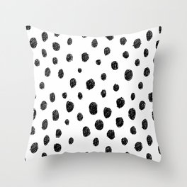 Messy Dots Throw Pillow