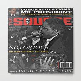 The Source Magazine Issue #228 (December 2008) B.I.G. Metal Print
