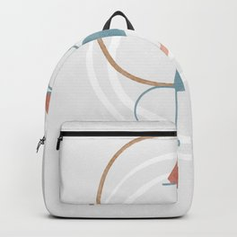 Fast food with style - abstract of a star dish. Backpack
